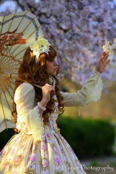 With the Cherry Blossoms by AmaraVonNacht.deviantart.com on @DeviantArt