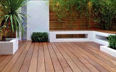 Premium Holzterrasse mit bis zu 10 Jahren Garantie & Wartung. Small Patio Design, Garden Design, Wooden Terrace, Outdoor Living, Outdoor Decor, Outdoor Gardens, Pergola, Decoration, Deck