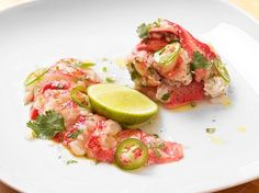 Lobster Ceviche Recipe Appetizers ( 14 net carbs per serving) with lobster, kosher salt, shallots, chopped cilantro fresh, jalapeno chilies, juice, lime, extra-virgin olive oil
