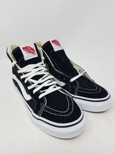 84d8617f7fad62 VANS SK8-HI SLIM BLACK WHITE SKATE SNEAKERS MEN S SIZE 3.5 WOMEN S SIZE 5  NWOB  fashion  clothing  shoes  accessories  unisexclothingshoesaccs ...