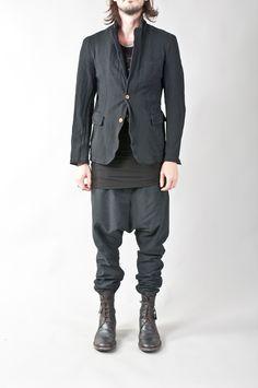 'homme plus' boiled polyester inner-waistcoat jacket — re. porter
