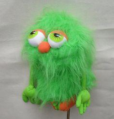Golf club head cover Green Monster troll golf by Puppetsinabag