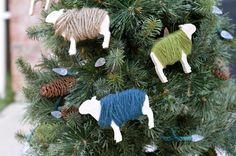 Since we have so many new readers -- Hi Y'all! -- I thought I would repost last year's most popular holiday DIY. These sheep ornaments are super easy and they look fantastic on the Christmas tree. ...