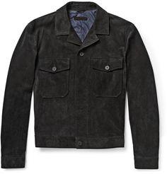 Bottega Veneta - Washed-Suede Jacket|MR PORTER