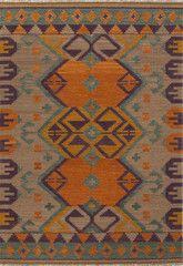 Anatolia AT07 Kaliediscope Warm Tan / Faded Teal Rug | Rug & Home