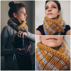 knitted cowl scarf pattern