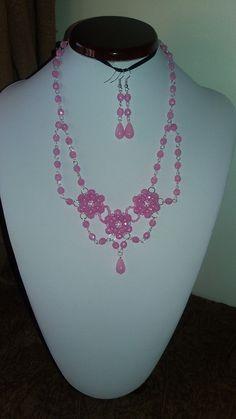 """Náhrdelník """" Růžový"""" (50 cm)"""