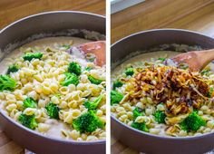 Mac and Cheese with Caramelized Onions and Broccoli - The Food Charlatan