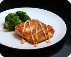 Pan Seared Salmon with Creamy Sriracha Sauce by kae71463, via Flickr