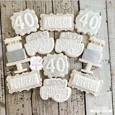 Happy Birthday Cookie, 75th Birthday, Birthday Cookies, Birthday Celebration, Birthday Brunch, Beer Cookies, Nurse Cookies, Almond Sugar Cookies, Anniversary Cookies