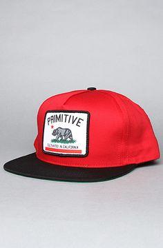 Primitive - The Cultivated Snapback Cap in Red Black  karmaloop 20 Off 7fd497337ef4