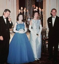 Queen Elizabeth and Prince Phillip with President and Mrs Kennedy my 2 favorite women