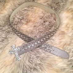 Cross studded belt BNWOT Brand new, never worn, no tags. Genuine leather Accessories Belts