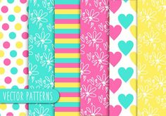 Decorative pattern collection Free Vector
