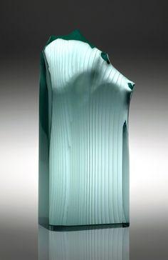 FLAME Jiri Karel Molten, cut and polished glass – float Private collection Photo: Jiri Koudelka