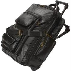 Embassy LUBPREXP Embassy Italian Stone Design Genuine Leather Trolley Bag/backpack