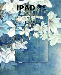 IPad Protective case with Magnolia flower for inch