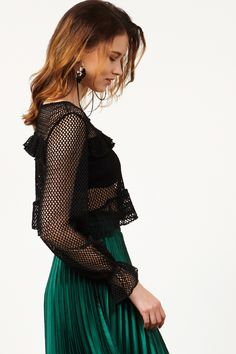 Ava Mesh Top Discover the latest fashion trends online at storets.com #tops #meshtops #fashion #ootd #storetsonme