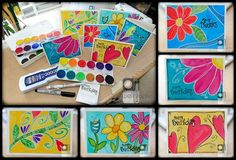 Watercolor Cards by Tracy Weinzapfel