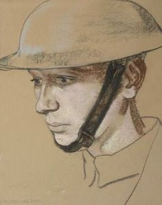 """Portrait of a soldier,"" Eric Kennington (1888-1960)"