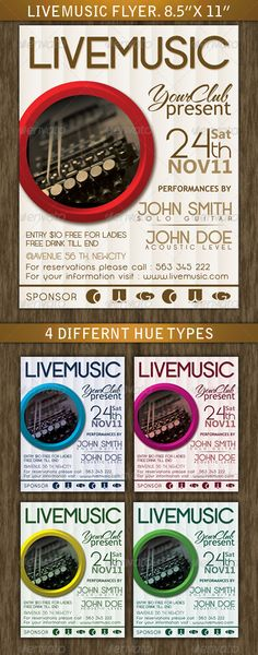 Live Music Flyer Music flyer, Psd templates and Template - music flyer template
