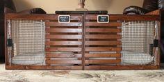 by DrunkenPugDecor (Diy Bench Dog) Crate Bench, Diy Bench, Diy Dog Crate, Dog Rooms, Diy Stuffed Animals, Dog Houses, Pet Accessories, Apartment Living, Dog Bed