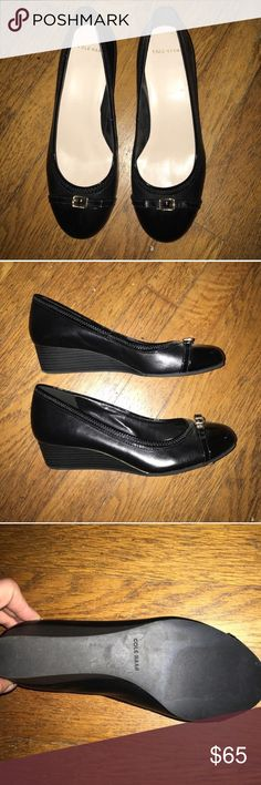 Cole Haan NEW! Cole Haan black wedge loafer-new, never worn Cole Haan Shoes