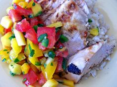 Garlic-Lime Chicken with Mango Salsa