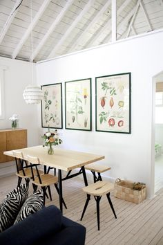 A Finnish Style Cottage In Canada Home Decor Inspiration, Interior, Home, Dining Room Design, Botanical Dining Room, Dining Room Combo, House Interior, Dining Room Decor, Vintage Dining Room