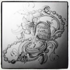 Image result for pocket watch drawing tattoo