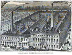 view of Joseph Rogers & Sons factory at Norfolk Street, Sheffield, from 1878 Sheffield England, Old Images, Norfolk, Yorkshire, Joseph, Old Things, Louvre, History, Street