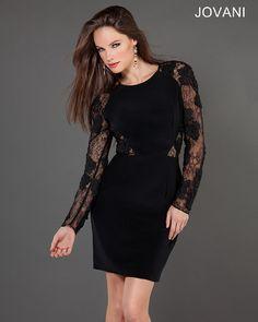 Jovani Lace Little Black Dress 1334 #LBD #Party