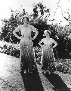 Marlene Dietrich with daughter Maria [1933] adorable mother-daughter dresses