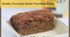 Raise your hand if you love nutella! My hand is up and so are my teens. I've created several nutella recipes over the years including this Amish Friendship Bread recipe a few years back. This friendship bread is perfect for breakfast, bake sales and dessert! If you have an Amish Friendship Starter you can make this today. If not, click over and get the recipe and make your own Amish Friendship Bread Starter.