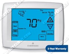 1f95-1291 White Rodgers Premium Touchscreen Multi-stage or HEAT-PUMP Programmable Thermostat by White Rodgers. $168.55. The 1F95-1291Blue Touchscreen Multi-Stage Or Heat-Pump Thermostat (4 Stage Heat / 2 Stage Cooling) Has Two Mode Dehumidification, Dual Fuel Option, ans is 7-Day Programmable. It Has a Backlit Display, 24 Volts, Automatic Changeover, System Switch-Heat, Off, Cool, Emergency Auto Fan Switch- Auto, On, Programmable Fan, Energy Management Recovery, Remote S...