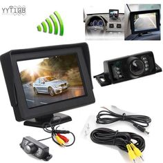 4.3 TFT LCD Monitor+Wireless Car Backup Camera RearView System Kit Night Vision…