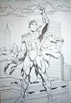 Superman the movie poster sketch! by kal-el40 on DeviantArt