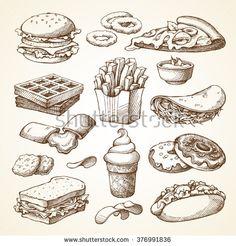 Burger Stock Vectors & Vector Clip Art   Shutterstock