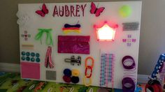 Made my daughter a Sensory Board she LOVES it!