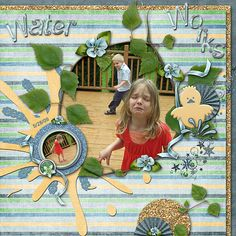 """Water Works  Credits:  """"Rainy Days"""" (Quick Pages and Alphabet)  by Dees-Deelights Font Used:  Microsoft Sans Serif  Available at: My Memories Store -  Kit:  https://www.mymemories.com/store/display_product_page?id=DDDR-CP-1409-70331 Exclusive Quick Pages:  https://www.mymemories.com/store/display_product_page?id=DDDR-QP-1409-71037  Dee Store - http://dees-deelights.com/deestore/"""