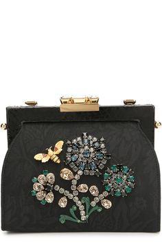 Клатч Vanda с кристаллами и отделкой из кожи питона Dolce & Gabbana, черного цвета, арт. 0116/BB6194/A2I86 в ЦУМ | Фото №1