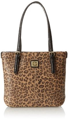 Anne Klein Perfect Tote Small Messenger Bag,Leopard,One Size Best Handbags,  Nice 4e1a2f1e4a