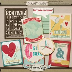 Printable -- Scrappy Cards Journal Cards from Forever Joy [Free with FB Like]