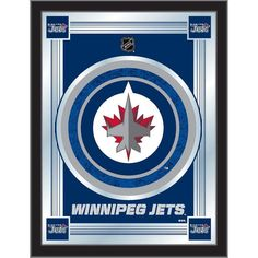 Winnipeg Jets Logo A Jet Taking Off On A Red Circle