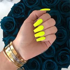 Trendy Yellow Nail Art Designs To Make You Stunning In Summer;Acrylic Or Gel Nails; French Or Coffin Nails; Matte Or Glitter Nails; Neon Yellow Nails, Neon Acrylic Nails, Yellow Nails Design, Yellow Nail Art, Neon Nails, Glitter Nails, Aycrlic Nails, Cute Nails, Coffin Nails