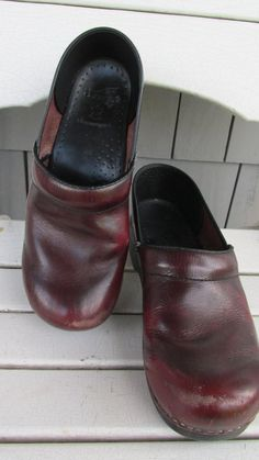 Vintage Burgundy Leather Men's Dansko Clogs by GoodBadandLovely, $32.00