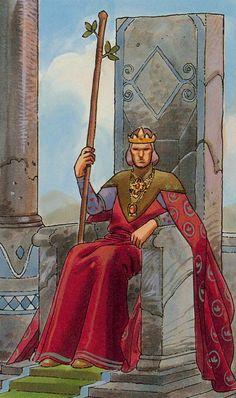 King of Wands - Secret Tarot by Marco Nizzoli