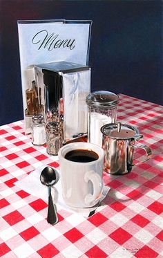 """Cafe' Americana"" - by David Billingsley                 ~ Colored Pencil"