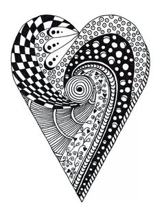 how to draw a heart mandala