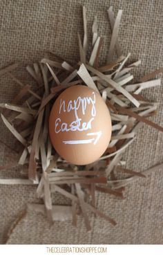Decorating Easter Eggs With Paint Pens